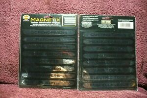 Vtg Nos 16 Harley Davidson Chroma Magnetic Tool Box Draw Labels Snapon Accessory