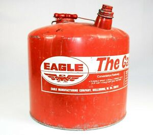 Vintage Eagle The Gasser 5 Gallon 26 Gauge Galvanized Metal Gas Can Usa