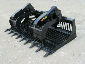 84 Severe Duty Rock Bucket Grapple Attachment Fits Global Euro Quicke Loader