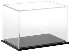 Plymor Clear Acrylic Display Case With Black Base 9 W X 6 D X 6 H