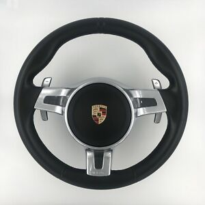 Porsche Cayman 911 Boxster Sportchrono Steering Wheel Leather 991 347 803 34