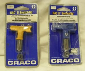 Graco Rac X Switchtip And Rac 5 Switchtip For Paint Gun New In Pack Nice Spr