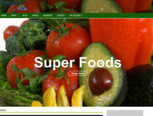 Super Foods Website With Video Blog Social seo Work From Home