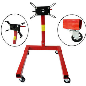 80041 Red Engine Stand 1250lbs Capacity 360 Degree Head Motor Stand