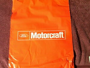 Vintage 4 Motorcraft Fomoco Ford Red Plastic Tote Grab Bags Auto Truck Accessory