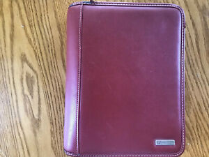 Franklin Covey Classic Planner Red Leather Ring Binder