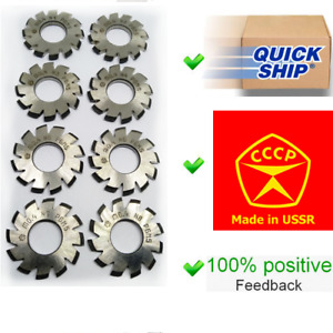 Set 8pcs Module M0 4 Inner Bore 13mm 1 8 Hss Involute Gear Cutters Disk shaped