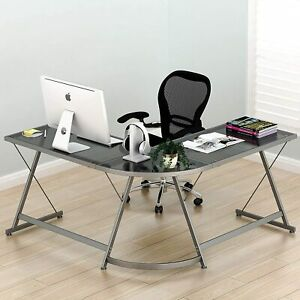 L shaped Computer Gaming Desk Corner Office Home Furniture Table Workstation