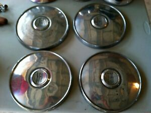 Vintage Fiat Wheel Tires Hub Caps Car Parts Antique Chrome