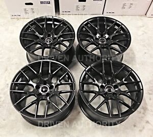 18 Avant Garde M359 Black Wheels Rims Bmw F30 320i 328i 335i E90 E92 Set Of 4