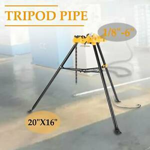 460 6 Tripod Pipe Chain Vise Stand W Steel Legs Rubber Mounts Hot