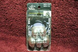 Nos 5 Chrome Skull Valve Stem Caps Auto Truck Motorcycle Hot Rod Accessory