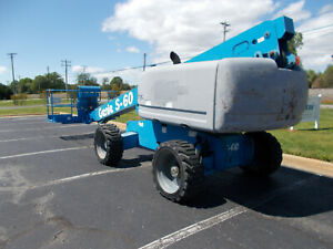 2008 Genie S60hc 60ft Man Lift 60 Boom Lift Straight Stick Boomlift Manlift