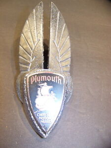 1935 Plymouth Hood Grill Ornament Emblem Oem 634492