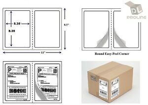 2000 Quality Perforated Round Corner Shipping Labels 2 Per Sheet 8 5 X 5 5