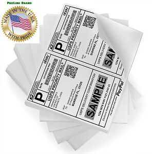 200 8 5x5 5 Premium Shipping Labels Half Sheet Self Adhesive Usps Ups Fedex Usa