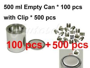 Pint 500 Ml Empty Metal Paint Can 100 Cans And Lids With Lock Clips 500pcs