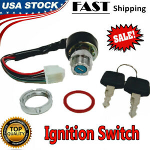 Universal Ignition Key Starter Switch With 2 Keys For Motorcycle Ignition Switch