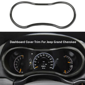 Carbon Fiber Dashboard Decor Cover Frame Trim For Jeep Grand Cherokee 2014 2020