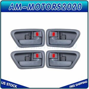 Fits 1997 01 Toyota Camry Interior Door Handles Front Rear Left Right Set 4 Gray