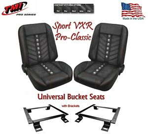 Sport Vxr Pro Classic Complete Universal Bucket Seat Set With Brackets