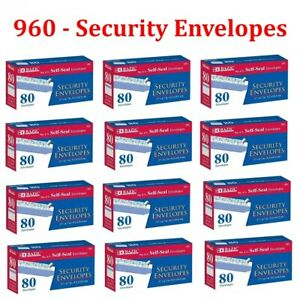 960 Peel And Self seal White Security Envelopes 3 5 8 X 6 1 2 Letter Shipping