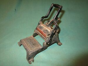 Vintage Cast Iron Business Card Printing Press W Gold Stencil Counter Desk Top