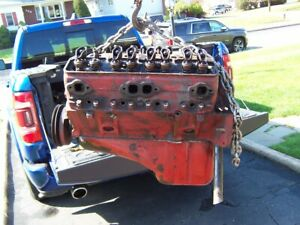 1955 Chevrolet 265 Engine 3703524 No Filter Block F Suffix 3836839 Heads