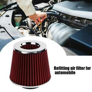 Universal Air Intake Cone Filter 3 To 4 Round Tapered Chrome Car Truck Suv