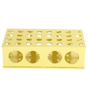 Test Tube Rack Multiple Holes Stainless Steel Tubing Stand Laboratory Equipment