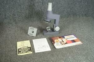 Ski Craft Microscope Lab Metal Microscope W Tin Storage Case