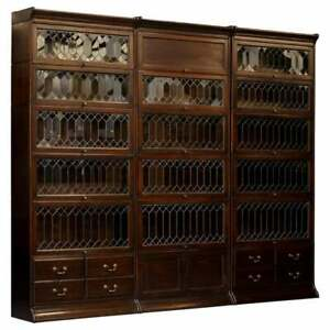 Angus Scotland England Suite Of 3 Large Gunn Library Legal Stacking Bookcases