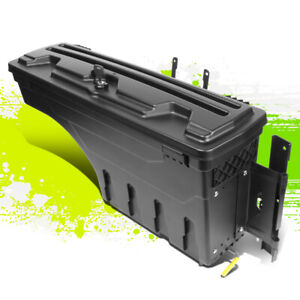 Heavy Duty Abs Wheel Well Tool Box W lock key Right For Ford F150 Pickup 15 20