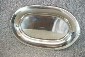 20 Long Silver Plated Farberware Oval Serving Tray