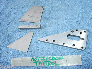Angle Blocks 4 Vintage Toolmaker Machinist Inspection Grinding Mill Lay out Qa