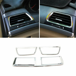 For Honda Accord 8th 2008 2013 Middle Console Air Outlet Vent Trim Abs Chrome