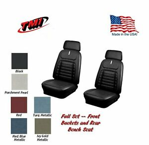 1968 Camaro Convertible Front Rear Deluxe Seat Upholstery W Headrests Any Color