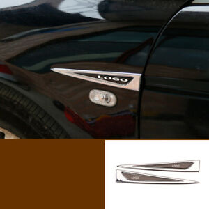 For Honda Accord 2008 2012 Abs Chrome Fender Side Air Outlet Cover Trim 2pcs