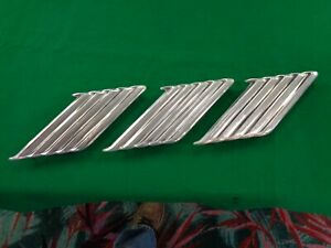 1963 Ford Thunderbird Door Trim Mouldings Right Side Outside Ornament Emblems 3