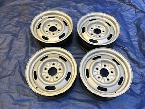 Gm Original 14x6 Yw Rally Wheels Ss Camaro nova chevelle setof 4 Bare