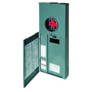 Square D Meter Combo 200 Amp 8 space 16 circuit Load Center Surface Mount