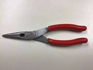 Snap on Tools Talon Grip Needle Long Nose Pliers W Cutter 196cf Usa Red