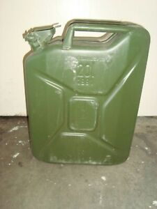 Nato Style Metal 5 Gal 20l Gasoline Fuel Gas Jerry Can German Made Free Shipping