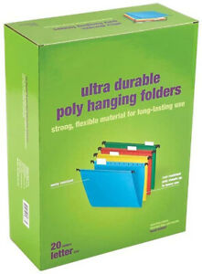 Myofficeinnovations Poly Hanging File Folders 5 tab Letter Size Assorted Colors