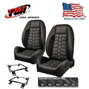 Tmi Pro Series Sport Xr Lowback Bucket Seats Brackets For 1966 1972 Chevelle