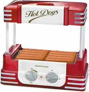 Nostalgia Hdr8rr Hot Dog Bun Warmer With Stainless Steel Rollers Adjustable Heat
