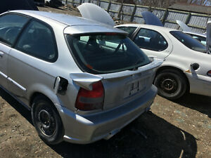 96 00 Honda Civic Hatchback Mid Wing Spoiler Veil Side