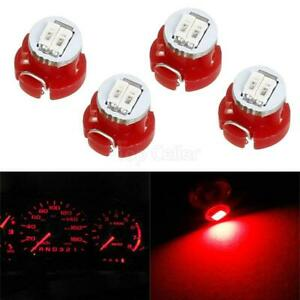 4 Pc T3 Neo Wedge 2 Smd Led Bulbs Instrument Cluster Light Panel Gauge Lamp Red