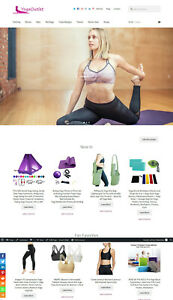 Yoga Shop Website Business For Sale Affiliate Marketing