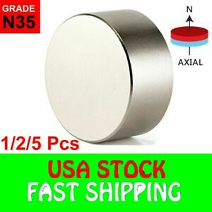 N52 Super Strong Neodymium Round Rare Earth Fridge Magnets Large Size 40mm 20mm